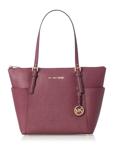 Michael Kors Jetset item purple tote bag