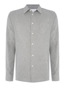 Soulland Huttnutt textured nepped long-sleeve shirt