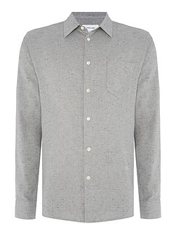 Huttnutt textured nepped long-sleeve shirt