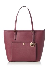 Michael Kors Jetset item purple large pocket tote bag