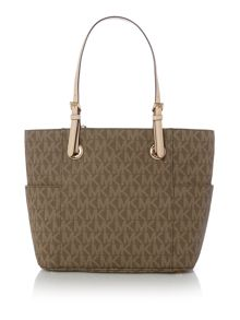 Michael Kors Jetset item brown signature tote bag