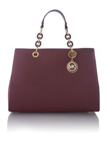 Michael Kors Cynthia purple medium tote bag