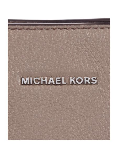 Michael Kors Camille taupe medium satchel bag