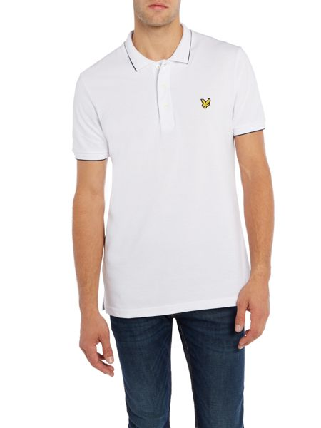 Lyle and Scott Short Sleeve Jacquard Collar Polo Shirt