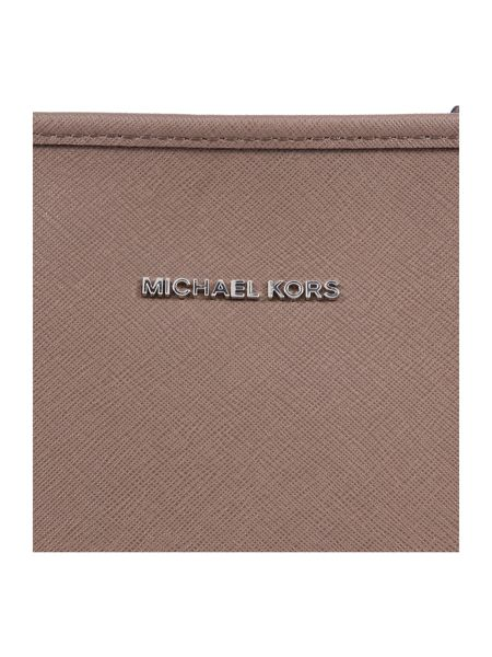 Michael Kors Jetset  travel taupe chain top zip tote