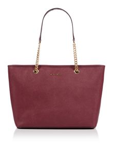 Michael Kors Jetset  travel purple chain top zip tote