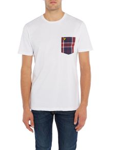 Lyle and Scott Short Sleeve Woven Check Pocket Crew Neck T-shirt