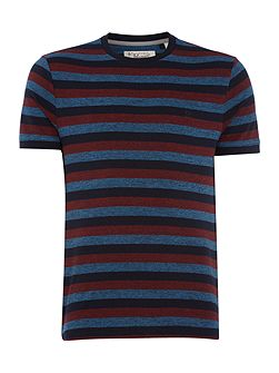 Marled-Stripe Crew-Neck t-shirt