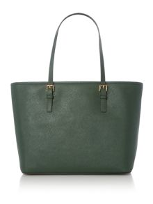 Michael Kors Jetset travel green top zip tote bag