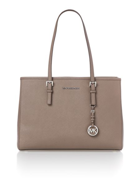 Michael Kors Jetset travel taupe large tote bag