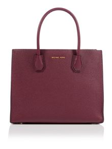 Michael Kors Mercer purple large tote bag