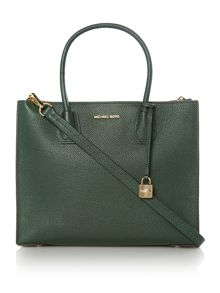 Michael Kors Mercer green large tote bag