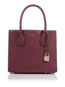 Michael Kors Mercer purple medium tote bag