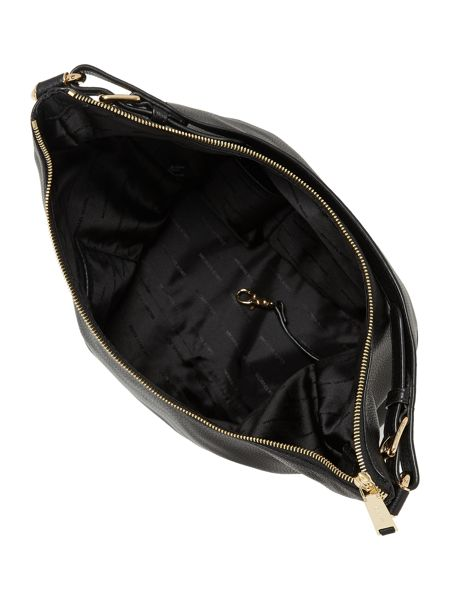 Michael Kors Lupita black large hobo bag