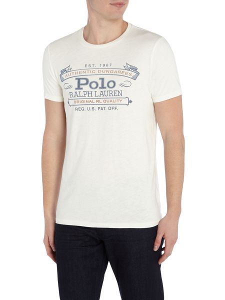 Polo Ralph Lauren Dungaree print crew neck t-shirt