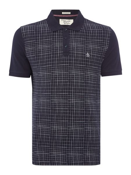 Original Penguin Cotton Printed-Front Short-Sleeve Polo Shirt