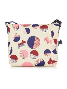 Radley Dapple dog multicolour medium zip crossbody bag
