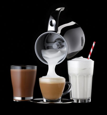 Dualit Milk Frother, Black with Chrome Handle
