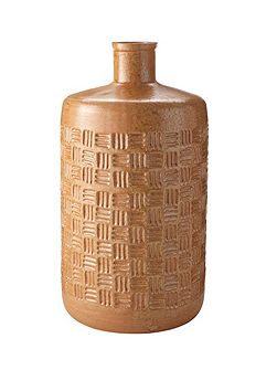 Colgne embossed bottle vase