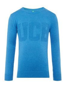 Benetton Boys Long Sleeve Crew Neck Jumper Logo
