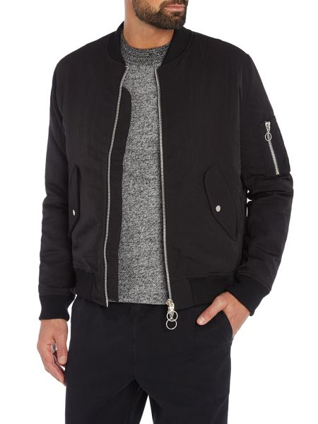 Soulland Thomasson nylon zip bomber jacket