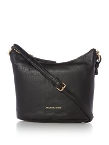 Michael Kors Lupita black medium hobo crossbody bag