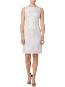 Eliza J Sleevless lace shift dress