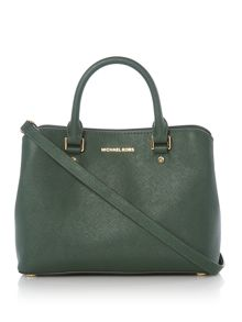 Michael Kors Savannah green medium tote bag