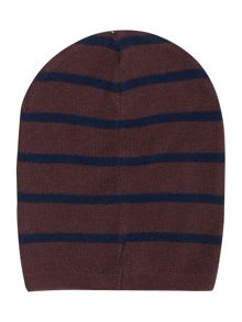 Benetton Boy`s Knit Beanie Thin Stripe Hat