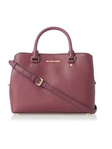 Michael Kors Savannah purple medium tote bag