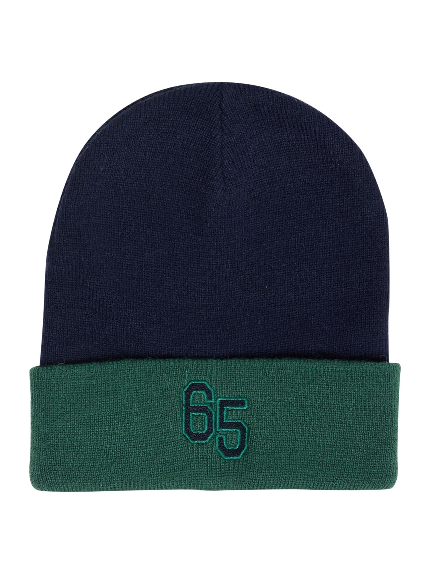 Benetton Benetton Boy`s Contrast Colour Hat With Logo, Navy