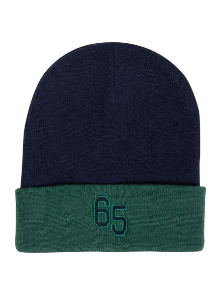 Benetton Boy`s Contrast Colour Hat With Logo