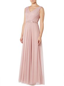 Eliza J Sleeveless dress with beaded detail