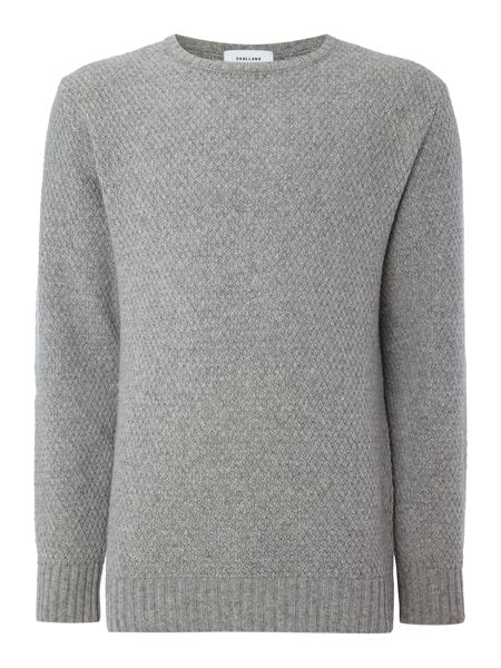 Soulland Ricketts textured knitted crew neck jumper