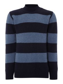 Soulland Mansour striped crew neck knitted jumper