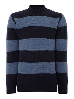 Mansour striped crew neck knitted jumper