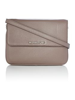 Bedford taupe double gusset cross body bag
