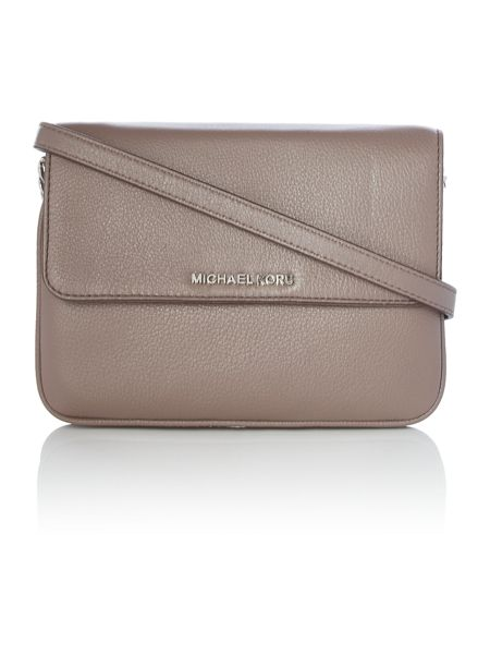 Michael Kors Bedford taupe double gusset cross body bag