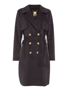 Biba Suedette zip pocket trench