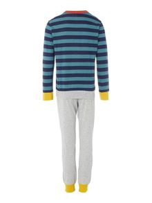 Benetton Boy`s Nightwear Top and Bottom Stripe
