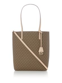 Michael Kors Hayley neutral large tote bag