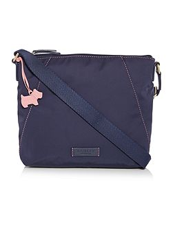 Dapple dog navy medium crossbody bag