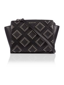 Michael Kors Selma black medium cross body bag