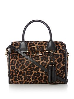 Tracy leopard print large tote bag