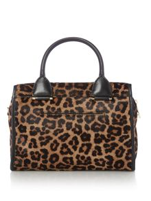 Michael Kors Tracy leopard print large tote bag
