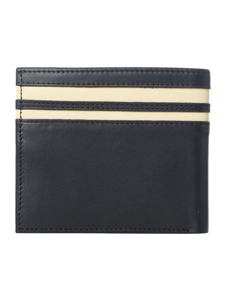 Fred Perry Cut and Sew Tipped Billfold Leather Wallet