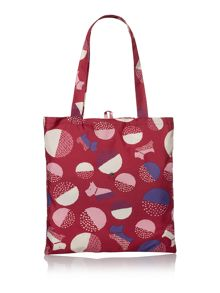 Radley Dapple dog multicolour foldaway tote bag