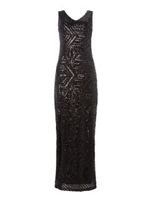 Vila full sequin sleeveless maxi dress