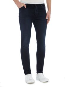 Soulland Hell travaille skinny fit mid wash jeans