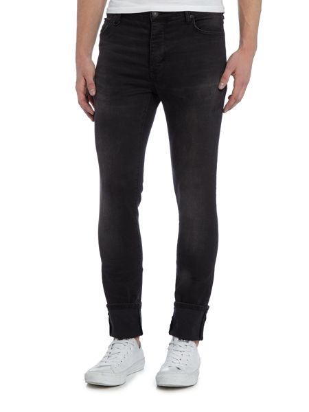 Soulland Hell sixteen skinny fit grey wash jeans